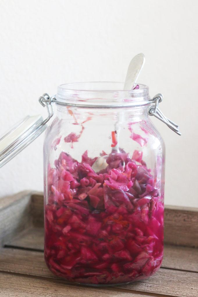 homemade sauerkraut | heatherlaurenlove.com